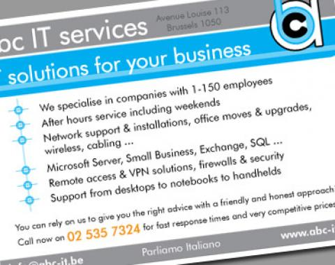 abc IT services flyer